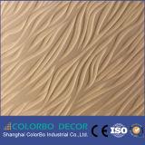 3D relieve moderno decorativo Panel de la Junta de onda