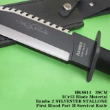 Cuchilla fija Cuchillos de caza de la herramienta de supervivencia herramientas Camping HK8611