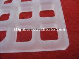 두꺼운 UV 융합된 실리카 석영 유리 접시