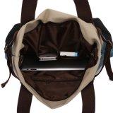 형식 숙녀 어깨에 매는 가방 화포 Retro 여자 물색 끈달린 가방