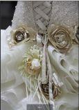 Без бретелек отбортовывая платье венчания Organza мантии шарика Bridal