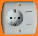 Schuko tomada com interruptor (F7610)