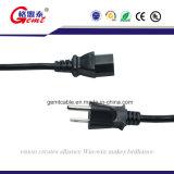 Extensão de cabo americana Socketc da potência do padrão 18AWG (UL aprovado), 12-Feet