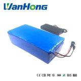 Ebike電池48V 50ah 2000Wの2A充電器が付いている電気バイク電池48V、BMSのリチウム電池48V電池のパック