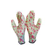 Les nitriles de qualité ont enduit des gants de main de travail de jardin de gants de sûreté