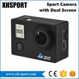4K impermeabilizan la leva de la acción de la cámara del deporte de WiFi con la pantalla dual