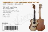 Tapa Spruce sólida de la marca de fábrica de Aiersi Ukulele de Hawaii del soprano de 21 pulgadas