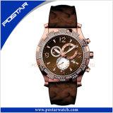 Nouvelle arrivée montre de sport en acier inoxydable montre-bracelet chronographe-2379 psd