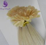 Extensão loura clara do cabelo da queratina da ponta de #613 U