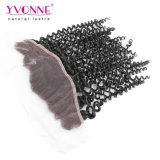 Chiusura riccia malese del Frontal del merletto del Virgin naturale di colore di Yvonne 13.5X4