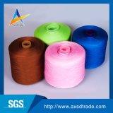 Filé réutilisé teint de broderie de tissu de polyester