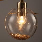 Moderne Art-Entwurfs-goldene Farben-Kugel-hängendes Glaslicht