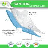 高品質は80%の綿のテリー布薄板にされたTPUのマットレスの保護装置を防水する