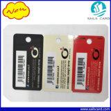 2 dans 1 carte d'adhésion en plastique combinée de PVC d'indicateur de clé de code barres