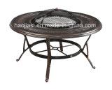 Im Freien/Rattan/Garten/Patio-/Hotel-Möbel-Gussaluminium-Stuhl u. Tisch eingestellt (HS 3165C& HS6129DT)