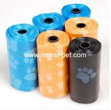 De blauwe Poot Afgedrukte Plastic Zak van het Afval van het Huisdier van de Zakken van het Achterschip van de Hond