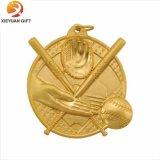Goldmetall passte die Baseballmedaillen an, die hergestellt wurden in China (XYmxl81804)