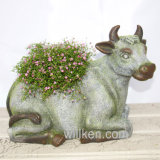 Flowerpot da tavolo di rivestimento del granito della decorazione da vendere