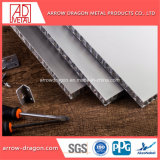 Painéis de alumínio alveolado leves de PVDF para fachadas/ Fachada