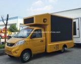 3t Foton HD LED 스크린을%s 가진 작은 옥외 광고 트럭