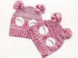 Малыши младенца детей связали Beanie шлема вышивки печатание птицы сыча теплый (HW633)