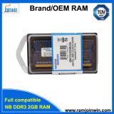 RAM пожизненной гарантии DDR3 2GB для компьтер-книжки