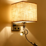 [شنس] مموّن فندق حديد مادّيّ جانب سرير جدار ضوء