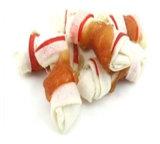 빨간 생가죽 매듭은 Chicken 고품질 개밥에 의하여 꼬았다