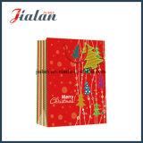 Drucken-UVluxuxweihnachtsentwurfs-Geschenk-Papierbeutel mit Marke