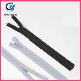 Zipper de nylon invisível pequeno para o saco com slideres principais