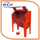 Industrial Quality Pistol-Grip Blusting Gun Foot Pedal Operated Sandblaster Cabinet