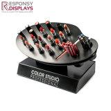 Schwarzer Acrylgegenlippenstift-kosmetischer Bildschirmanzeige-Schreibtisch