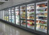 直立したスーパーマーケットのフリーザーの冷凍食品のためのガラスドアのマーチャンダイザー