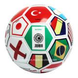 Bille de football en gros de PVC d'indicateur de pays de promotion