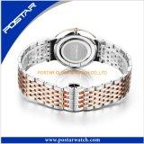 卸し売りファッションビジネスの偶然のメンズウォッチの標準的なステンレス鋼の腕時計