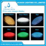 SWIMMINGPOOL-Licht des Edelstahl-Gehäuse-12V multi der Farben-PAR56 LED Unterwasser