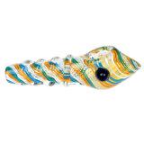 Tubo de vidro vidro do tubo de água do lado do vidro do tabaco listra coloridas em espiral do tubo tubo colher de vidro
