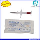 Microchip animal do Tag RFID para a identificação na seringa do identificador