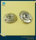 Покрытие матовый никель против пружинное стопорное кнопка с металлической для одежды