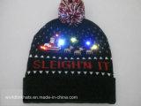 習慣LEDはジャカードロゴデザインの帽子の帽子を編んだ