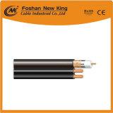 El cable coaxial RG6 con cable de alimentación +2DC para CCTV Cable (cable RG6+2CC)