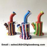 China-Fabrik kundenspezifisches Glasrohr-Silikon-Rohr-Teekanne-Konzentratweed-rauchendes Wasser-Rohr