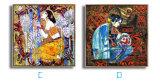 壁のバックラムの絵画映像を踊っている熱い販売の古典的な肖像画の女性