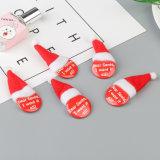 Insigne fait sur commande bon marché rond de goupilles de sécurité d'insigne de Pin de bouton de Noël et de chevilles de couverture