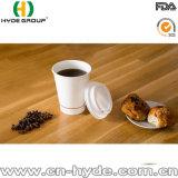 16oz de buitensporige Dubbele Kop van het Document van de Koffie van de Muur met het Stro van het Deksel