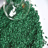 Palline di Masterbatches di colore verde fatte da polietilene di plastica