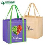 Barato Eco-Friendly o logotipo personalizado sacos sacola de compras de mercearia Non-Woven