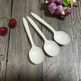Ecoの友好的な中国のスープ用のスプーンのコーンスターチの生物分解性の茶スプーン