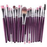Фиолетовый цвет 20ПК косметический набор щеток для макияжа порошок Foundation Eyeliner Eyeshadow кромка щетки для красивых женщин