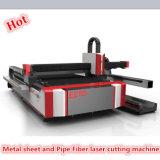 Tagliatrice calda del laser della fibra di vendita per i tubi rotondi di rettangolo e del quadrato